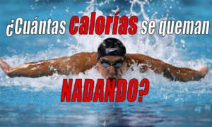cuantas calorías se queman nadando