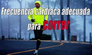 frecuencia cardíaca adecuada para correr