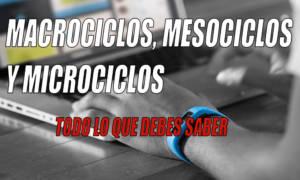 macrociclos, mesociclos y microciclos. comprende la periodización