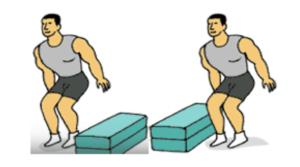 salto vallas laterales pliometrico