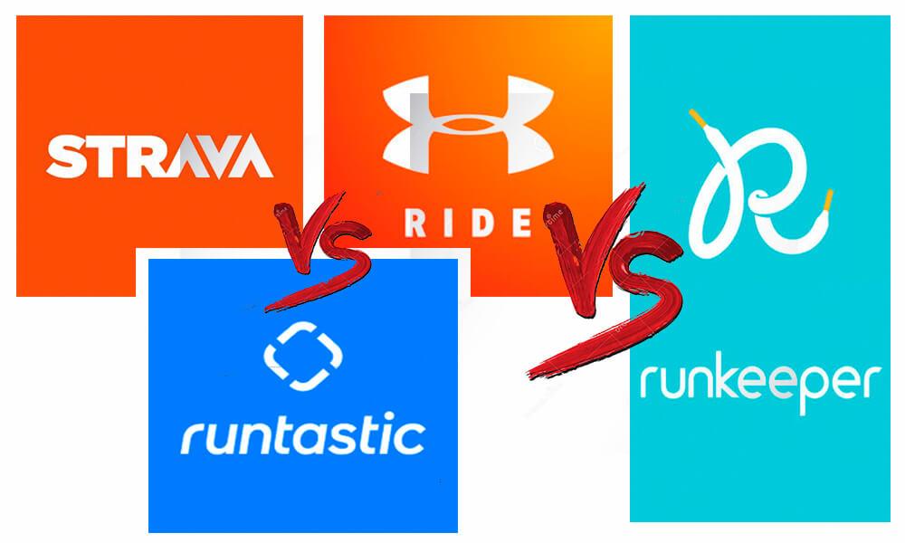Strava vs Mapmyride vs Runtastic vs Runkeeper | Comparativa