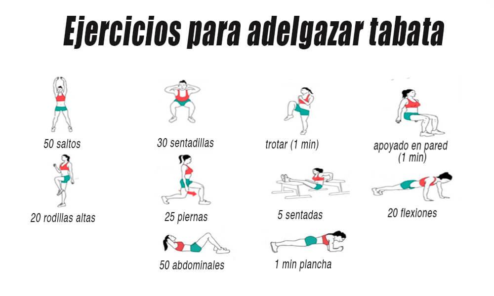 ejercicios para adelgazar tabata