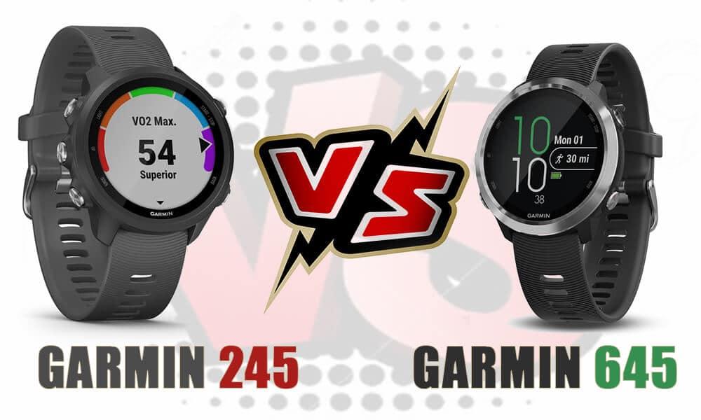Garmin Forerunner 245 vs Garmin Forerunner 645 | Comparativa