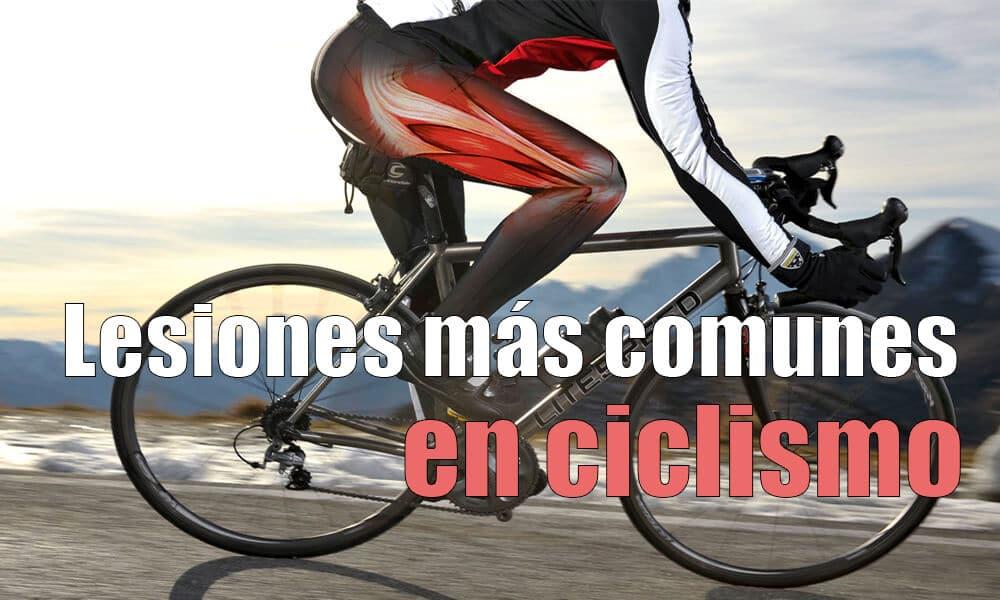 Las lesiones más comunes en el ciclismo