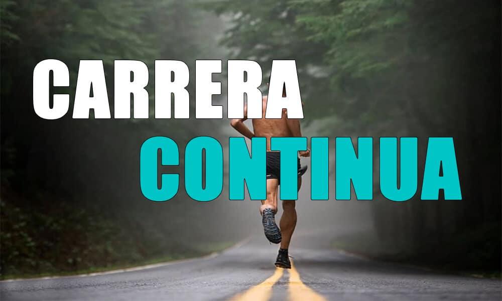 Carrera continua: Qué es, beneficios y sesiones de entrenamiento