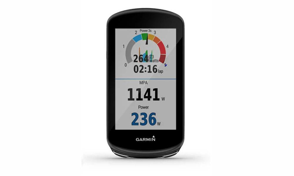 Análisis Garmin 1030 plus pantalla datos