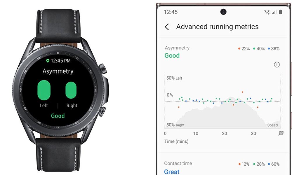 galaxy watch 3 metrics running