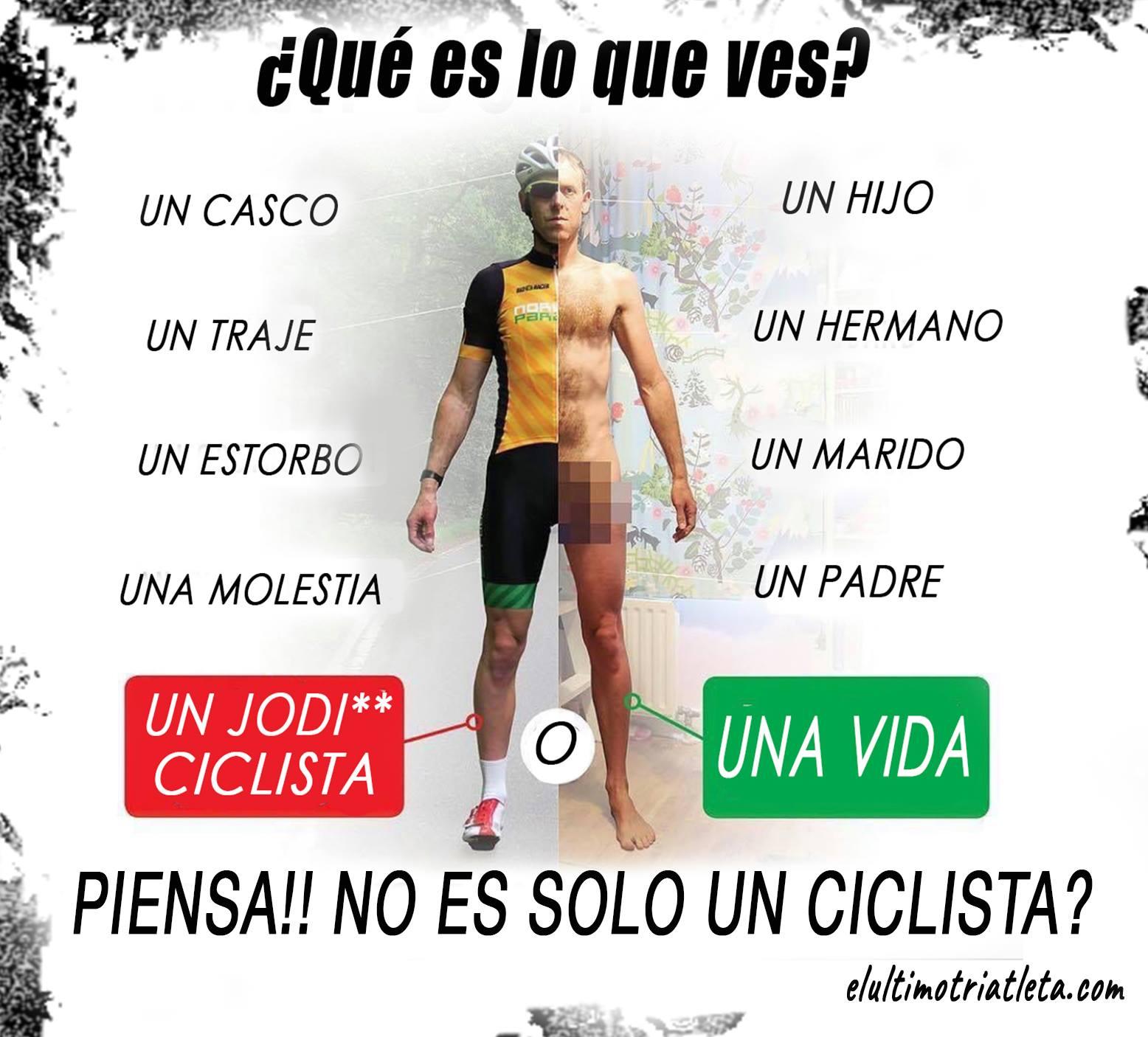 frase concienciacion para respetar a ciclistas
