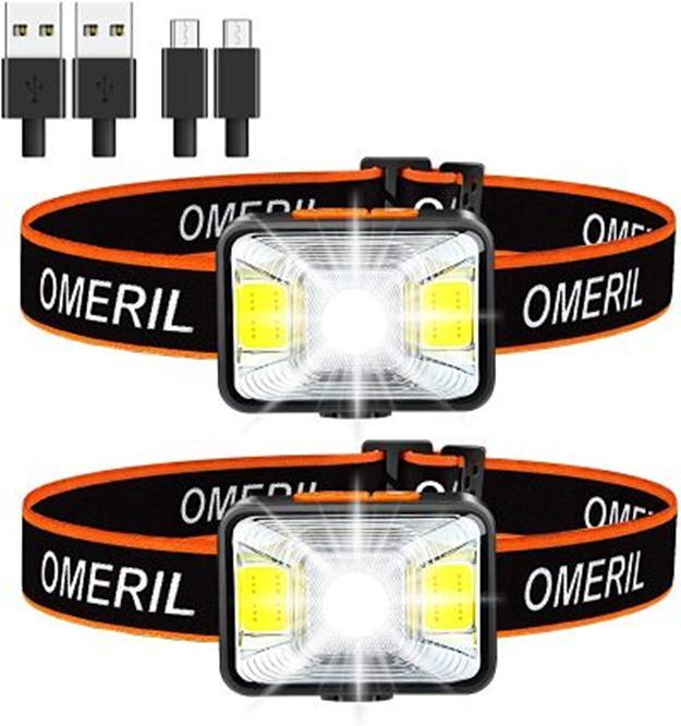 Linterna Frontal – Marca Omeril USB