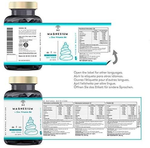Vitaminas para deportistas ZMA Magnesio Zinc Vitamina B6